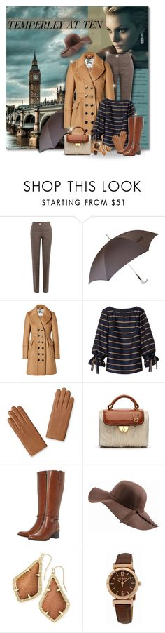 """""""Temperley at ten..."""" by nannerl27forever ❤ liked on Polyvore featuring Salvatore Ferragamo, Pasotti Ombrelli, Burberry, Maison Margiela, Dune Black, N'Damus, Kendra Scott and Guy Laroche"""
