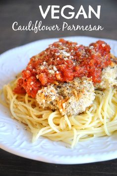 Vegan Cauliflower Parmesan - If you're looking for an incredibly satisfying meal, you've found it! This dish is one of my favourites because not only is it satisfying, but it is delicious and, of course, vegan. The breaded cauliflower is just mouth-watering. So good!