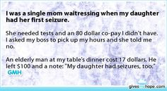 Inspiring feats - I was a single mom waitressing when my daughter had her first seizure.