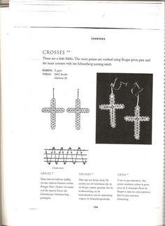uhani, križ