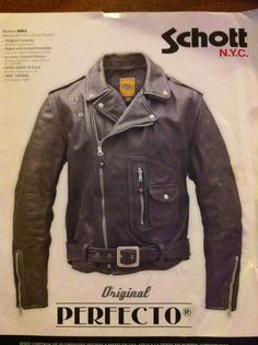 Schott Model D, Marlon Brandon Special Edition. Vintage Leather Motorcycle Jacket, Custom Leather Jackets, Leather Flight Jacket, Vintage Biker, Biker Leather, 1950 Outfits, Schott Jacket, Cafe Racer Jacket, Riders Jacket
