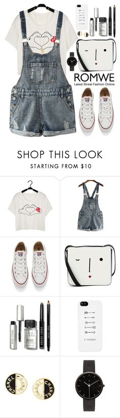 """Romwe"" by oshint ❤ liked on Polyvore featuring Converse, Lulu Guinness, Bobbi Brown Cosmetics, Chanel, I Love Ugly, Alex Monroe, awesome, amazing, fab and romwe"