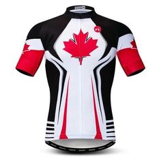 Canada Cycling Jersey - The Cool Dude Shop Cycling Jerseys, Cycling Bikes, Lightin The Box, Cycling Outfit, Mountain Biking, Sport Outfits, Canada, Clothes, Bike Components