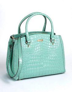 mint green handbag <3