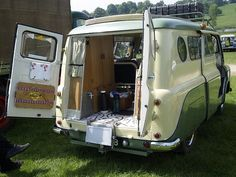 The New 1963 Bedford Doormobile Caravan .. their 60's minimal mobile home from home