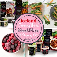 7 Day Slimming World Meal Plan with Iceland. Low cost Slimming World meal plan using Slimming World Iceland meals and products. Iceland Slimming World Meals, Slimming World Free Foods, Beans On Toast, Easy To Cook Meals, Pink Foods, Sweet Chilli, Food Diary, Meal Planning, Healthy Recipes