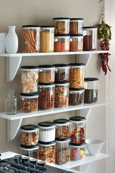 Our Clear Containers are perfect for organizing dry ingredients and snacks to find your favorite items with ease — plus, they create a beautiful and colorful display, too!