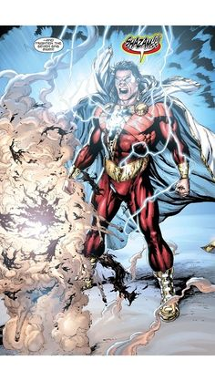 The adventures of a teenager whom the wizard Shazam endowed with the ability to transform into an adult superhero. Arte Dc Comics, Marvel Comics, Comics Anime, Ms Marvel, Captain Marvel Shazam, Shazam Comic, Dc Heroes, Comic Book Heroes, Comic Books Art