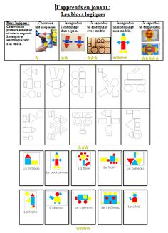 Patent + Roadmap Logic Blocks More - Math Worksheets, Activities For Kids, Montessori Math, Primary Maths, Petite Section, Simple Math, Classroom Games, Preschool Kindergarten, Childhood Education