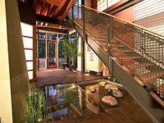 Zen house features striking lake views