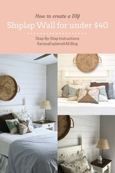 How to create a darlin shiplap accent wall for under $40, cheap DIY, accent wall on a budget, budget home improvement, fixer upper wall, shiplap, faux shiplap