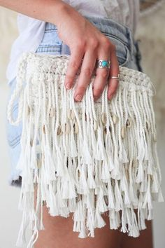 Macrame Clutch Purse - main