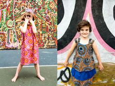 cool #sisters modeling fun african clothes #kids #summer #photoshoot #africanprints #kidsfashion #stylishhipkids