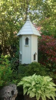 my dovecote / bird house painted in farrow and ball  French grey.