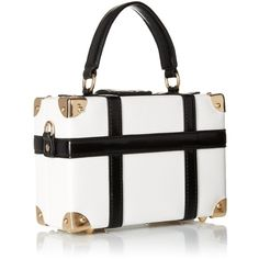 Aldo Sunsapote Clutch, White/Black, One Size: Handbags: Amazon.com ($50) ❤ liked on Polyvore featuring bags, handbags, clutches, black and white handbags, aldo purses, white and black handbags, man bag and handbags clutches