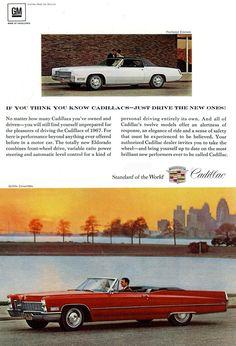 vintage 1967 cadillac deville convertible the fleetwood el Cadillac Fleetwood, 4x4 Trucks, Diesel Trucks, Lifted Trucks, Ford Trucks, General Motors, Vintage Advertisements, Vintage Ads, Vintage Signs