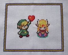 Next cross-stitch! Link and Zelda PDF Pattern by PixelDragon