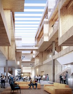 Campus Competition - Campus Competition on Behance - Social Housing Architecture, University Architecture, Timber Architecture, Architecture Visualization, Concept Architecture, Architecture Design, Industrial Architecture, Mix Use Building, Building Design