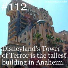 Disneyland's Tower of Terror is the tallest building in Anaheim.