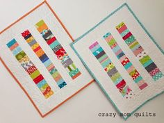 gorgeous idea for dolls' quilt