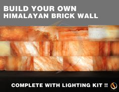 Himalayan Salt Brick Wall with Lighting Kit