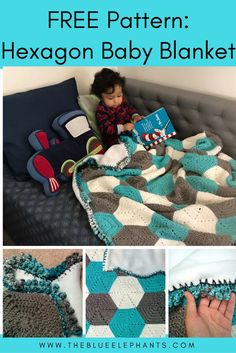 Free Pattern: Hexagon Baby Blanket w/ tutorials and pictures!