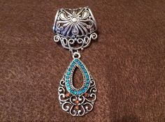 Scarf Jewelry with Jeweled Pendant on Etsy, $8.00