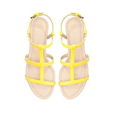 Image 2 of PATENT LEATHER FLAT SANDALS from Zara