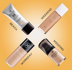 Best drugstore foundations by far! Revlon is amazing, even tells you when to wear them so you won't be disappointed. BB cream is for a more natural appeal, wear for a light coverage. Colorstay is for a long day, no need to re-touch, for medium to full coverage. Nearly naked is for a light natural feel, but is buildable to cover any flaws. Photoready is exactly how is sounds, great coverage for long lasting flawless skin. It contains no SPF so perfect lighting is a must!