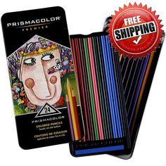 Prismacolor Premier 24 Assorted Colors Pencils Set Drawing Painting Creative New #Prismacolor