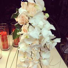 Peach orchid bouquet