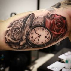 Rose And Clock Tattoo | Tattoo Designs Tattoo Pictures
