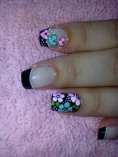 Perfect Nails, Gorgeous Nails, Cute Nails, Pretty Nails, Hair And Nails, My Nails, Pedicure Nails, Flower Nails, Nail Art Galleries