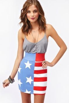 Stars & Stripes Skirt in Clothes at Nasty Gal