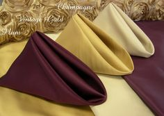 Plum, Gold, Champagne... Wedding colors:)