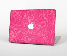 "The Subtle Pink Floral Laced Skin Set for the Apple MacBook Pro 15"" with Retina Display from Design Skinz"
