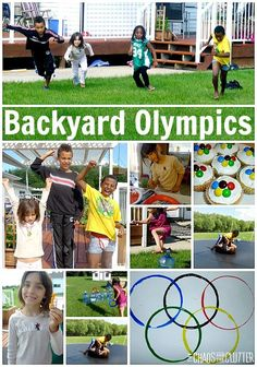 Create your own backyard Olympics complete with snacks, crafts, events, and an awards ceremony