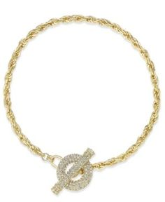 "Inc International Concepts 17.5"" Crystal Toggle Chain Necklace, Only at Macy's -"