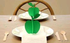 DIY 3D Paper Apple Ornament