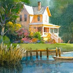 Robert Steele summer house...love the light in this painting