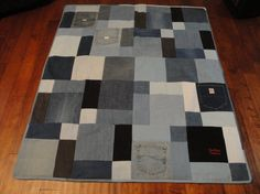 Demin quilt... would be awesome for the trailer!