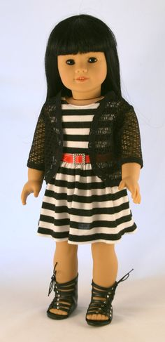 American Girl Doll Clothes Original Striped by Forever18Inches