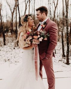 Winter Wedding Couples Photograph