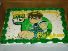 Photo: This Photo was uploaded by Find other Ben 10 Cake! pictures and photos or upload your own with Photobucket free image. Ben 10 Birthday, Birthday Parties, Birthday Cakes, Birthday Ideas, Cake Images, Cake Pictures, Ben 10 Cake, Ben 10 Party, Cakes For Boys