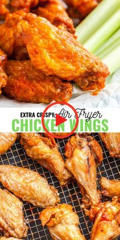 Air Fryer Chicken Wings Air Fryer Chicken Wings are so crispy and delicious without using any extra oil! Cooking Chicken Wings in an Air Fryer instead of deep frying them makes them healthier and clean up easier. They are ready in only 30 Air Fryer Recipes Breakfast, Air Fryer Oven Recipes, Air Frier Recipes, Air Fryer Dinner Recipes, Recipes Dinner, Air Fryer Recipes Potatoes, Air Fryer Recipes Appetizers, Air Fryer Recipes Vegetables, Air Fryer Recipes Keto