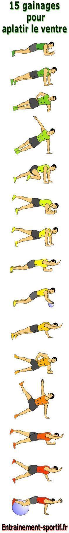 #Musculation. Additionner à des pompes et autres exercices en position gainée.: