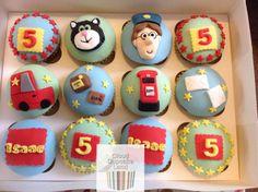 Postman Pat Cupcakes - Cake by Deb Harry Birthday, Fall Birthday, 2nd Birthday Parties, Birthday Ideas, Birthday Cake, Postman Pat Cake, Fondant, Cupcake Cakes, Cupcakes