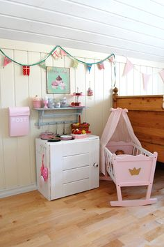 Sweet DIY playhouse area in a little girl's room,  Go To www.likegossip.com to get more Gossip News!