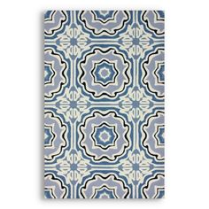 To use in a casual dining area. Pattern hides spills, + plays as a warmer version of Mediterranean tile. Source: The Foundary, Seafoam Lina Tiles Rug $326 for 8x10 (big enuf for dining room table)