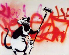 Banksy's Graffiti Rats Banksy Rat, Banksy Graffiti, Bansky, Pop Art, Street Art Banksy, Graffiti Artwork, Stencil Art, Art For Art Sake, Street Artists